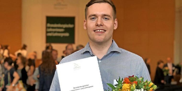Paul Aurin wird Brandenburger Lehrer des Jahres 2019