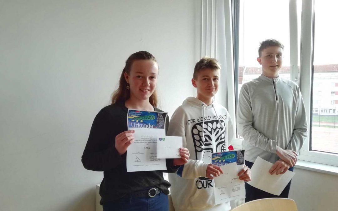 1. Platz beim Regionalfinale der Biologieolympiade